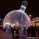 Outside LED lighted large Christmas balls